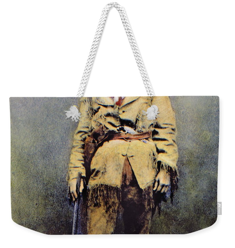 1895 Weekender Tote Bag featuring the photograph Calamity Jane (c1852-1903) by Granger