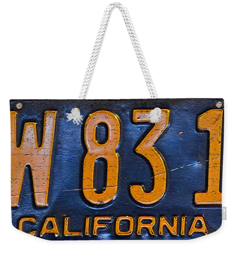 California Weekender Tote Bag featuring the photograph California 1937 by Bill Owen