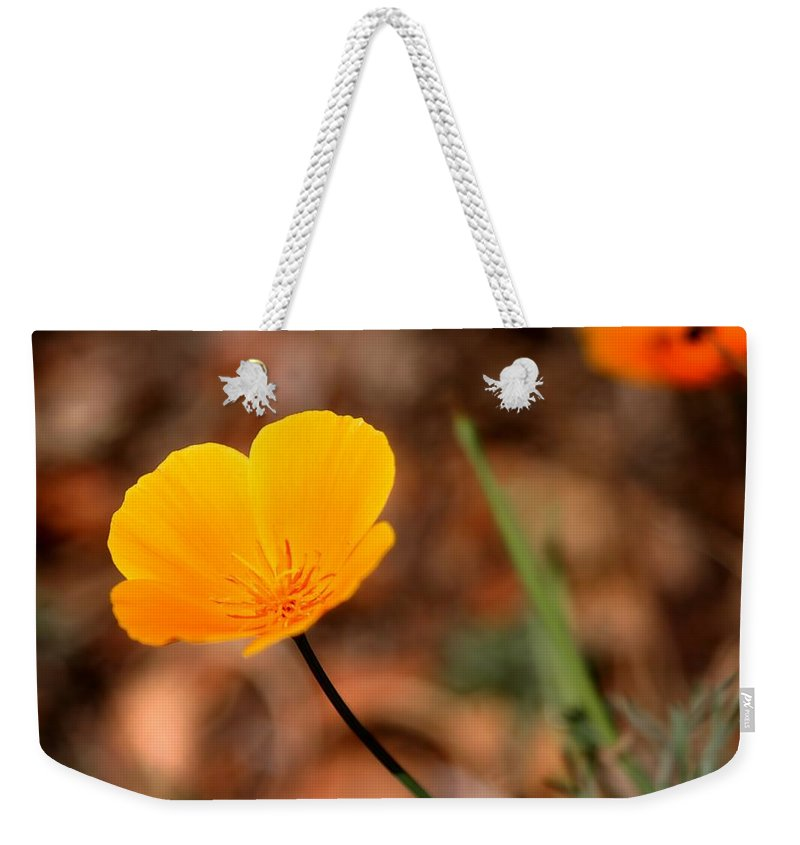 Beautiful Weekender Tote Bag featuring the photograph California Poppy by Henrik Lehnerer