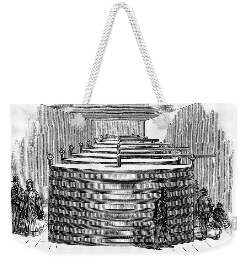 1864 Weekender Tote Bag featuring the photograph California: Winery, 1864 by Granger