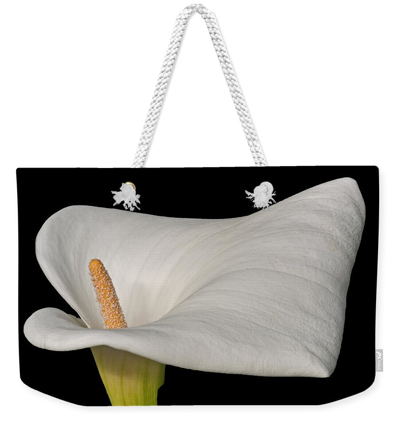 Calla Weekender Tote Bag featuring the photograph Calla Lily Flower by David Pringle