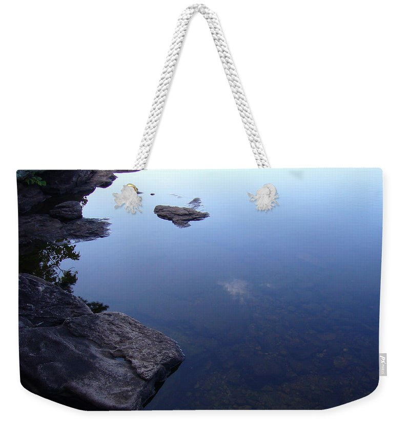 Calm Weekender Tote Bag featuring the photograph Calm Waters by Shirley Radebach