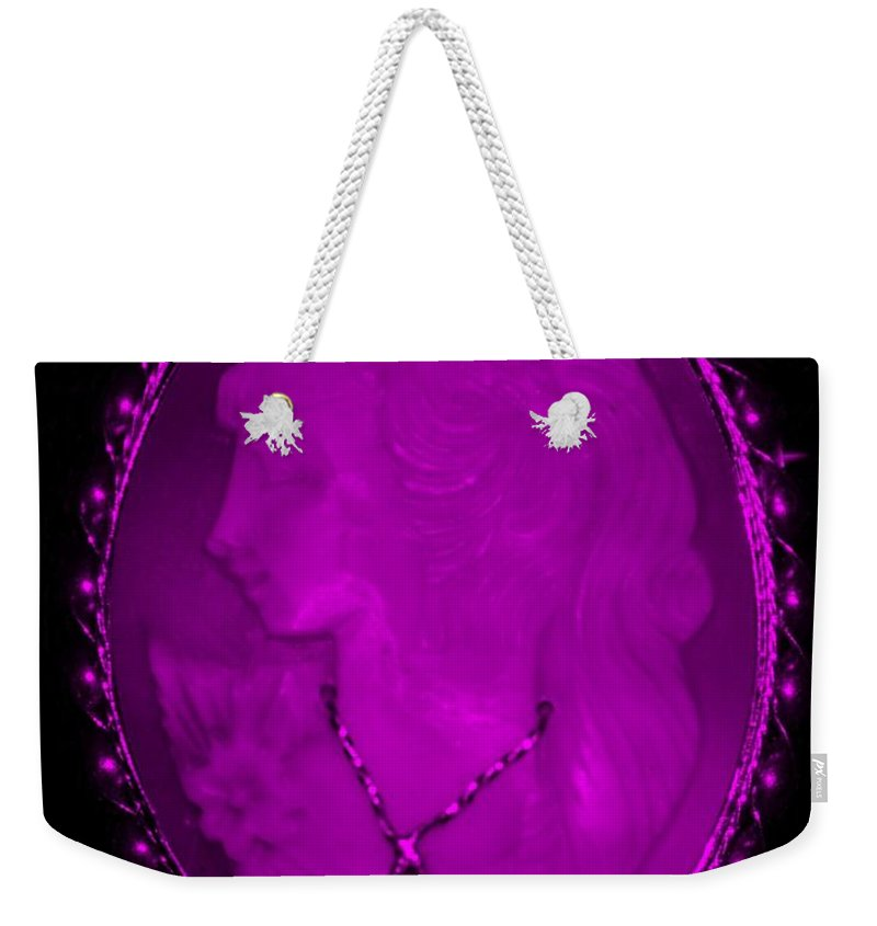 Cameo Weekender Tote Bag featuring the photograph Cameo In Purple by Rob Hans