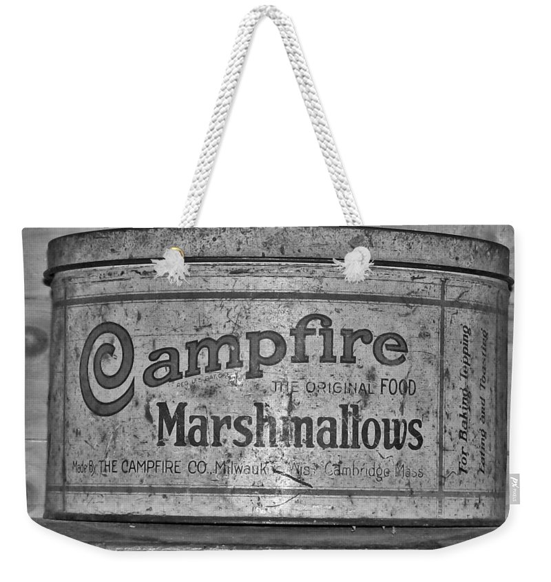 Campfire Weekender Tote Bag featuring the photograph Campfire Marshmallows by Sara Raber