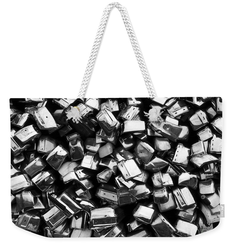 Weekender Tote Bag featuring the photograph Can You Guess What This Is  Bw by Mike Nellums