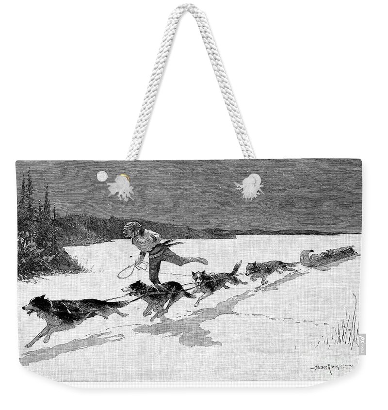 1892 Weekender Tote Bag featuring the photograph Canada: Fur Trade, 1892 by Granger