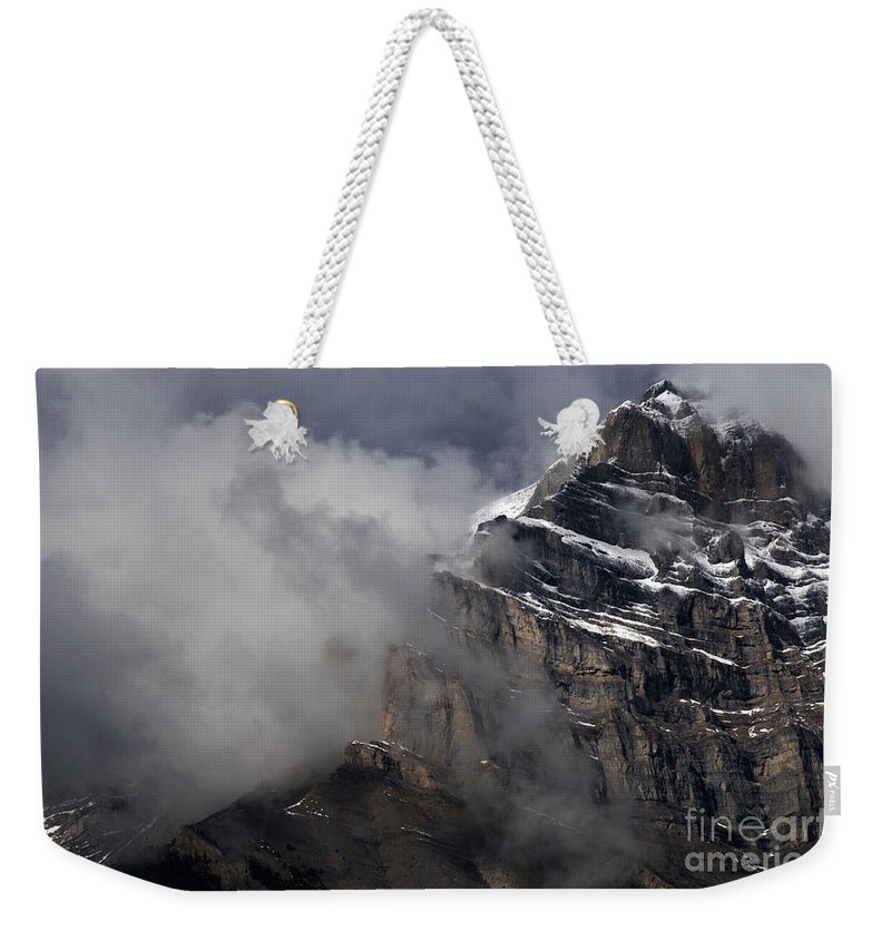 Canadian Rockies Weekender Tote Bag featuring the photograph Canadian Rockies by Bob Christopher