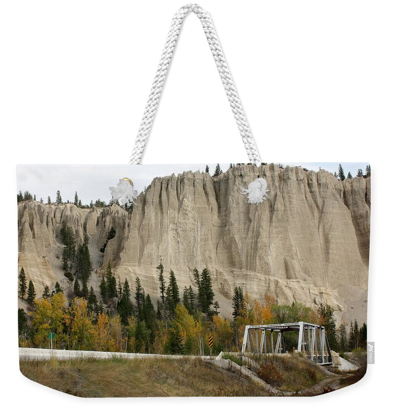 Mountains Weekender Tote Bag featuring the photograph Canadian Rocky Mountains Hoodoos by Terry Fleckney