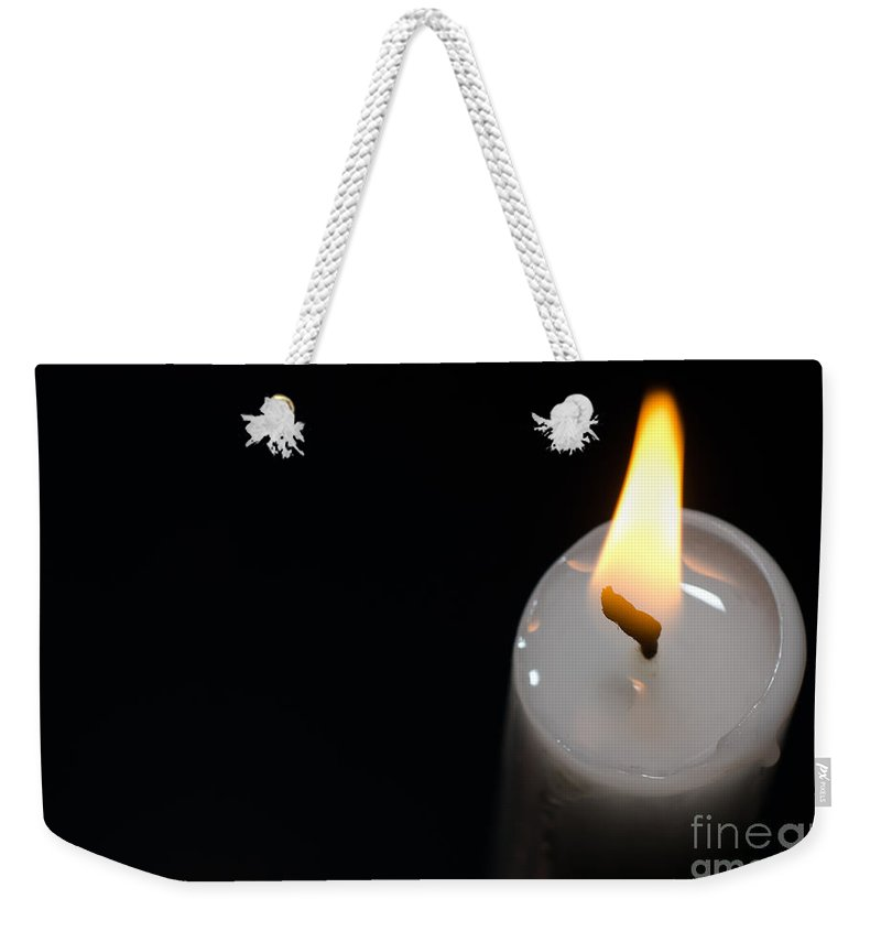 Candlelight Weekender Tote Bag featuring the photograph Candlelight by Mats Silvan