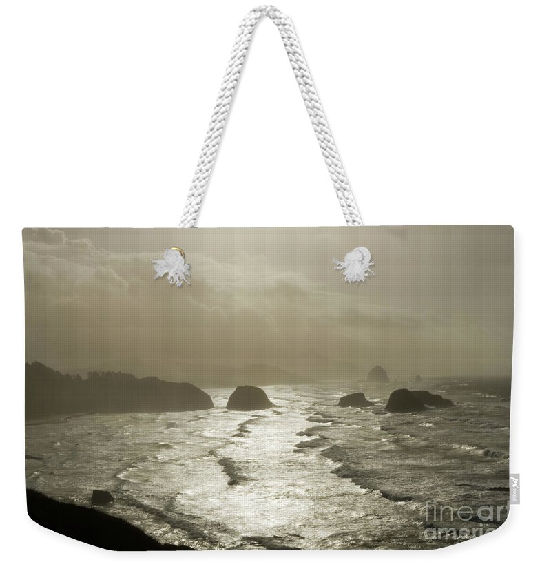 Pacific Ocean Weekender Tote Bag featuring the photograph Cannon Beach by Bob Christopher