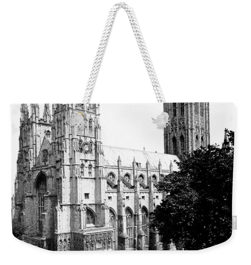 canterbury Cathedral Weekender Tote Bag featuring the photograph Canterbury Cathedral - England - C 1902 by International Images