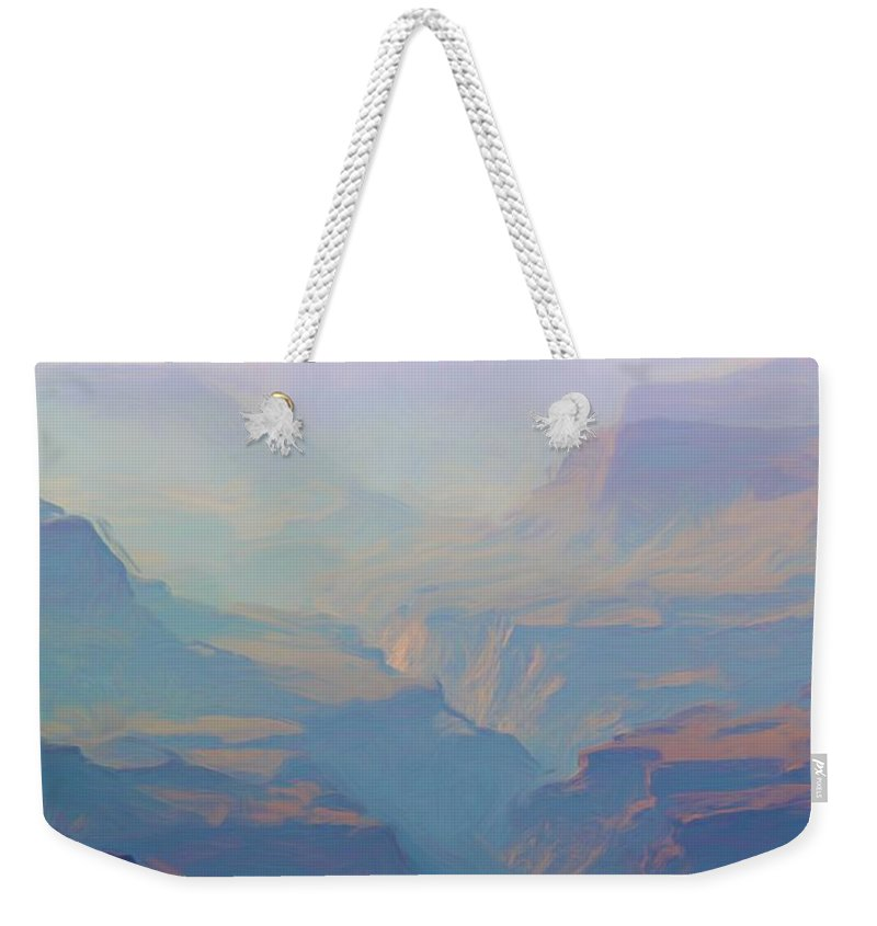 Grand Canyon Weekender Tote Bag featuring the photograph Canyon Close Up by Heidi Smith