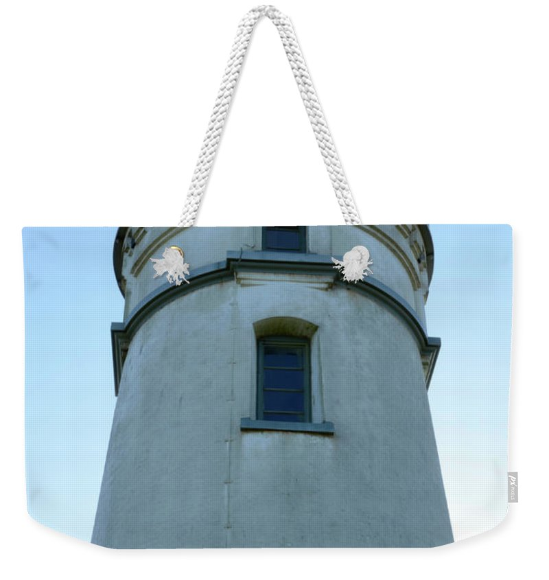 Pacific Ocean Weekender Tote Bag featuring the photograph Cape Blanco Light by Bob Christopher