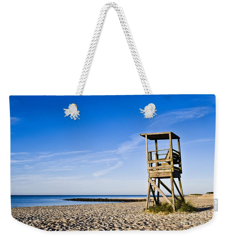 Beach Weekender Tote Bag featuring the photograph Cape Cod Lifeguard Stand by John Greim