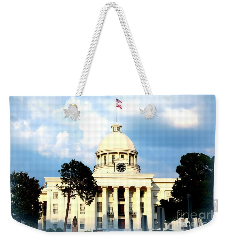 Montgomery Weekender Tote Bag featuring the photograph Capitol Building In Montgomery by Carol Groenen