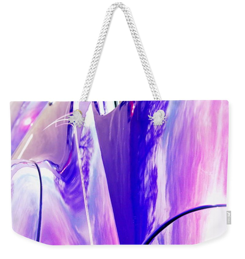 Reflections Weekender Tote Bag featuring the photograph Car Reflections by Susanne Van Hulst