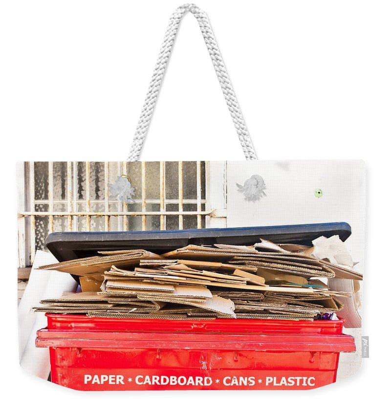 Rubbish Bin Weekender Tote Bags