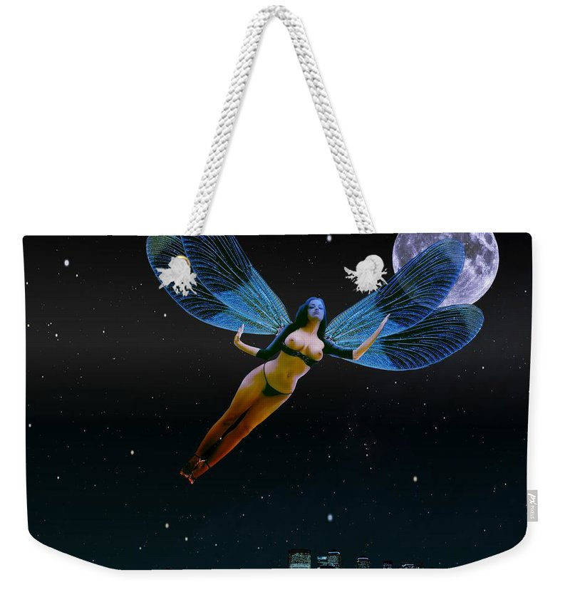 Angel Weekender Tote Bag featuring the digital art CarpeNoctemNY by Helmut Rottler