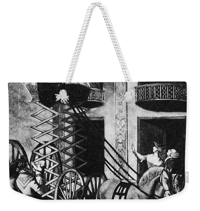 1776 Weekender Tote Bag featuring the photograph Carriage Cartoon, 1776 by Granger