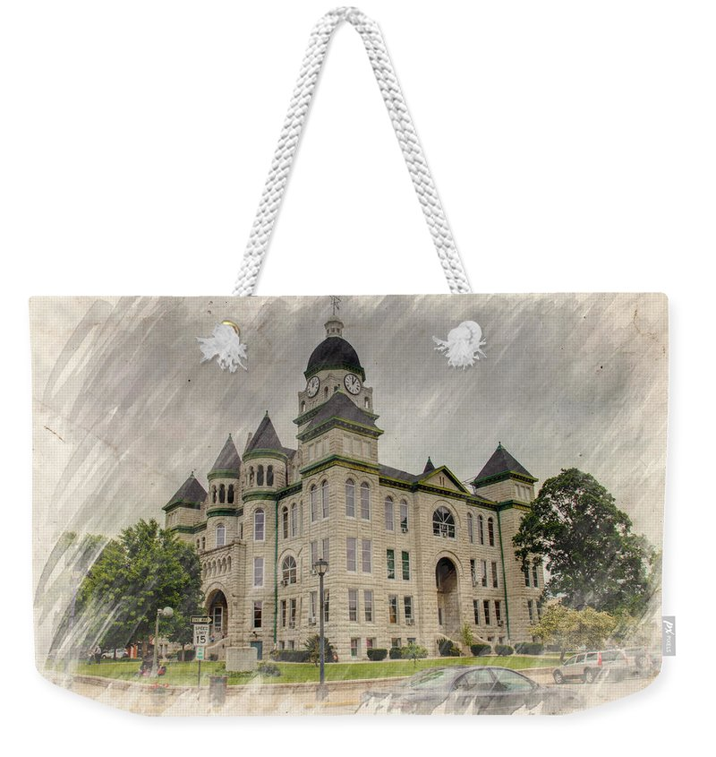 Architecture Weekender Tote Bag featuring the photograph Carthage Courthouse by Ricky Barnard