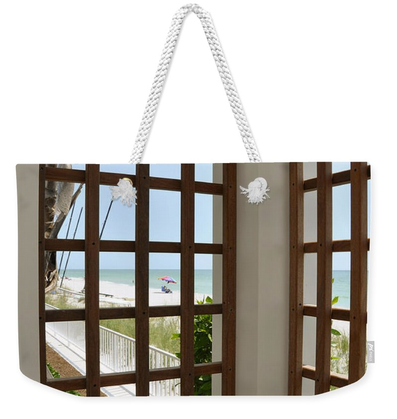 Lattice Weekender Tote Bag featuring the photograph Casa Del Laplaya by Christine Stonebridge