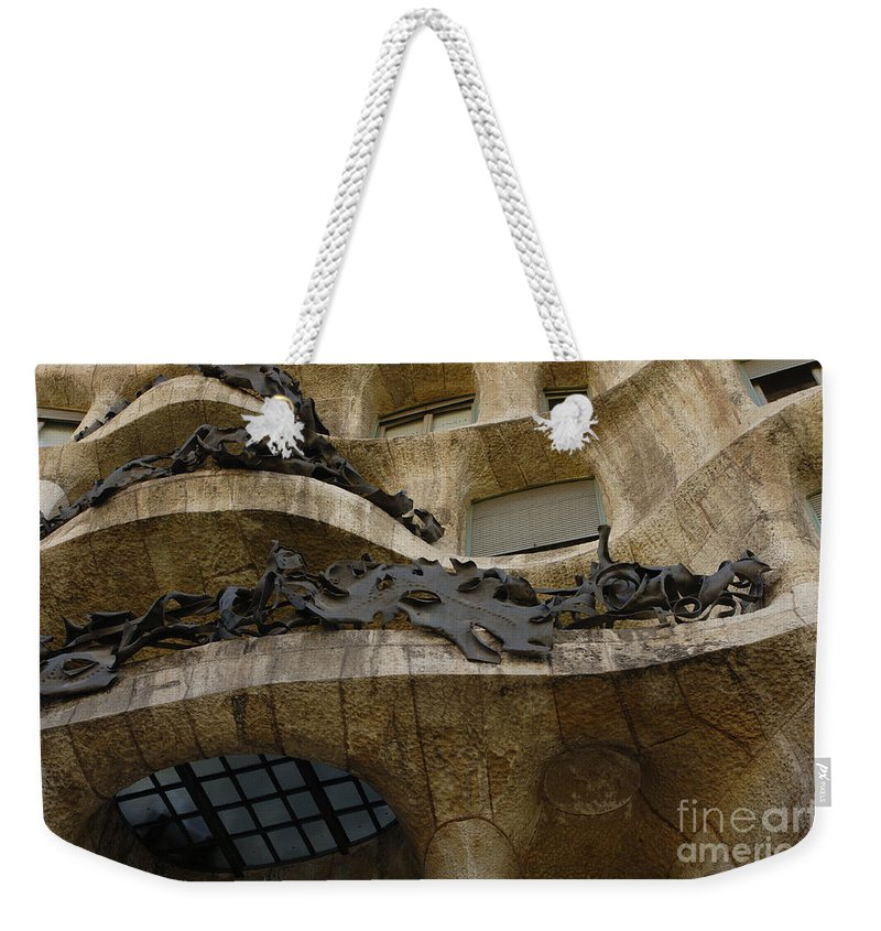 Casa Mila Weekender Tote Bag featuring the photograph Casa Mila Spain by Bob Christopher