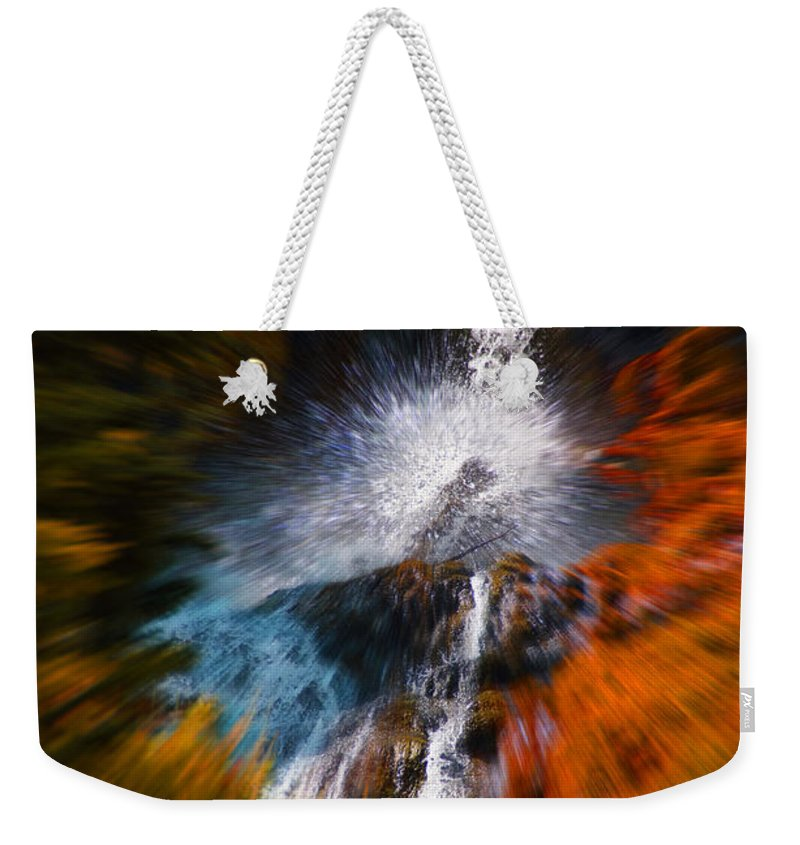 Color Weekender Tote Bag featuring the photograph Cascade Waterfall by Mick Anderson