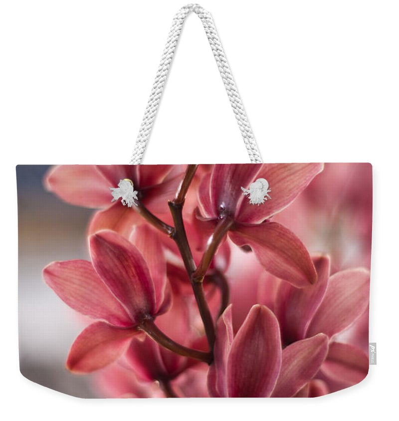 Tropical Weekender Tote Bag featuring the photograph Cascading Beauty by Mike Reid