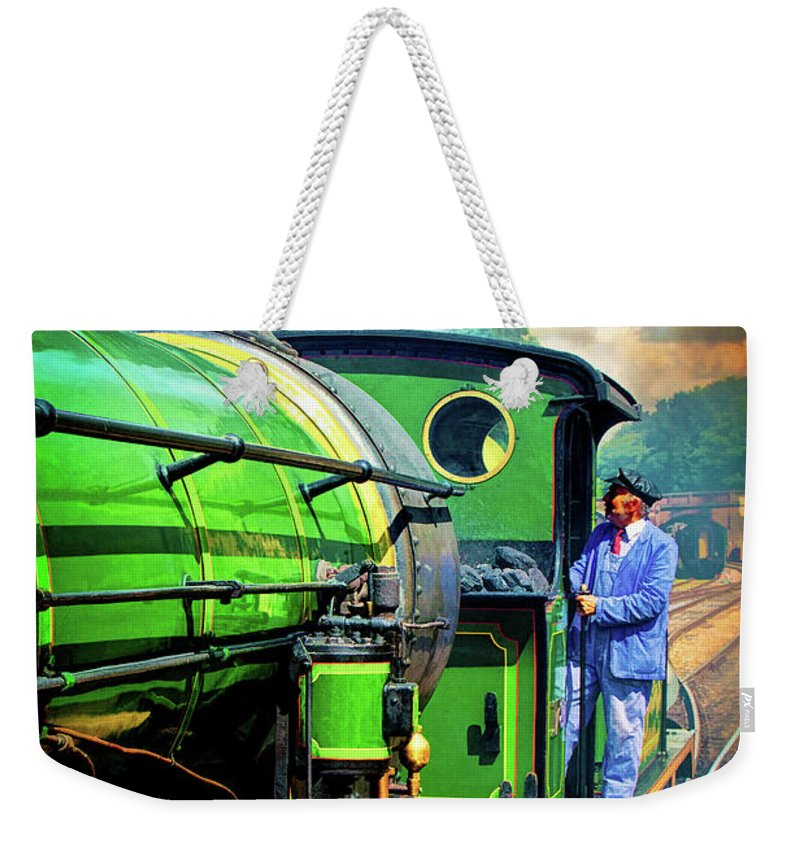 Locomotive Weekender Tote Bag featuring the photograph Casey Jones by Chris Lord
