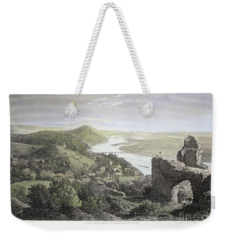 1823 Weekender Tote Bag featuring the photograph Castle Donaustauf, 1823 by Granger