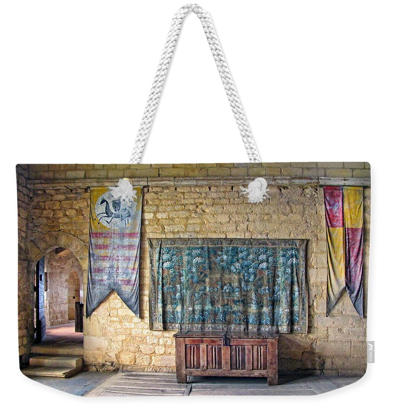 Castle Weekender Tote Bag featuring the photograph Castle Interior by Dave Mills