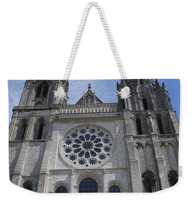 France Weekender Tote Bag featuring the photograph Cathedral At Chartres by Eric Tressler