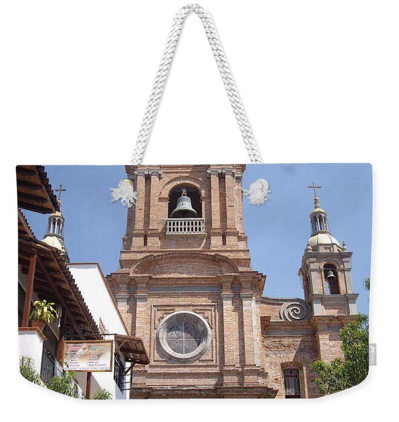Aimee Mouw Weekender Tote Bag featuring the photograph Cathedral Of Our Lady Of Guadalupe by Aimee Mouw