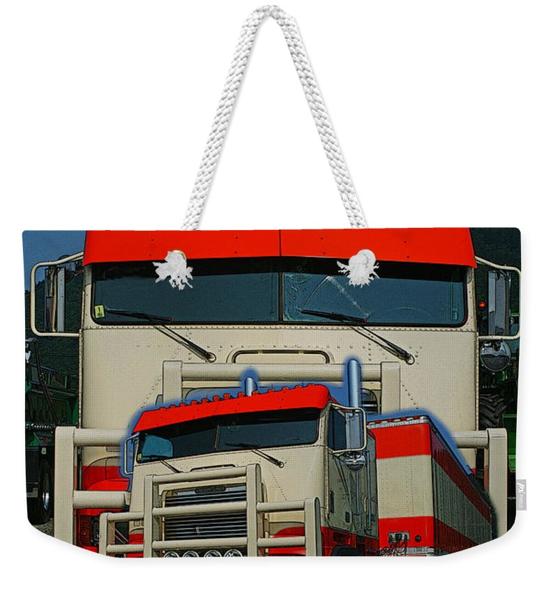 Trucks Weekender Tote Bag featuring the photograph Catr0270-12 by Randy Harris
