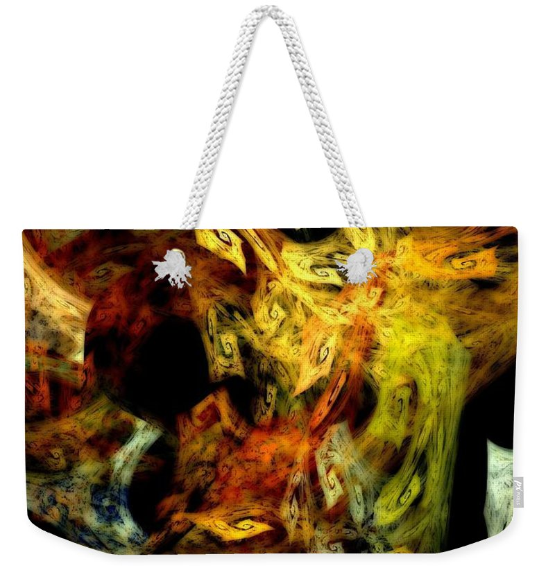 Cats Weekender Tote Bag featuring the digital art Cats by Klara Acel