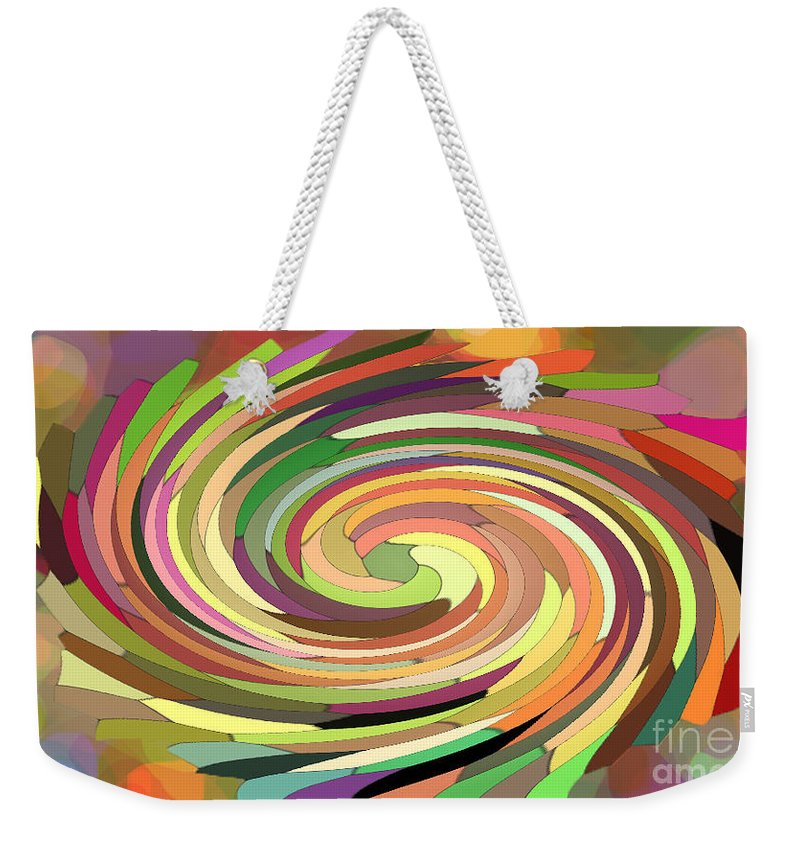 Digital Weekender Tote Bag featuring the photograph Cat's Tail In Motion. Stained Glass Effect. by Ausra Huntington nee Paulauskaite