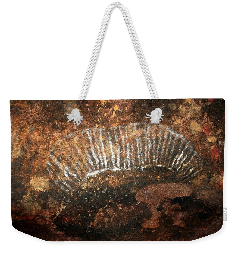 Witchittey Grub Weekender Tote Bag featuring the photograph Cave Painting Of A Witchittey Grub by Laurel Talabere
