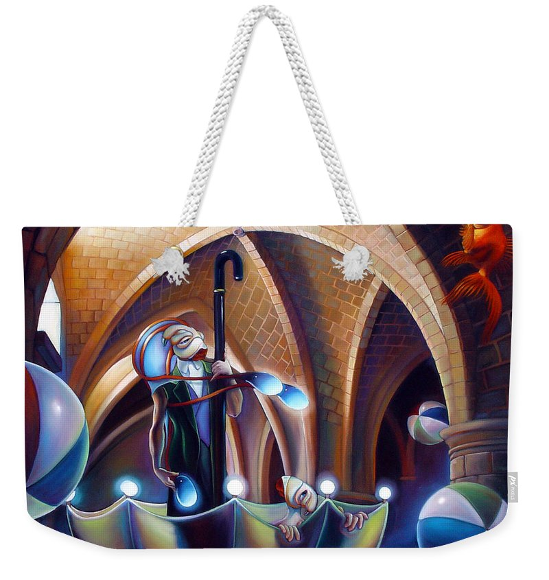 Umbrella Weekender Tote Bag featuring the painting Caverna Magica by Patrick Anthony Pierson