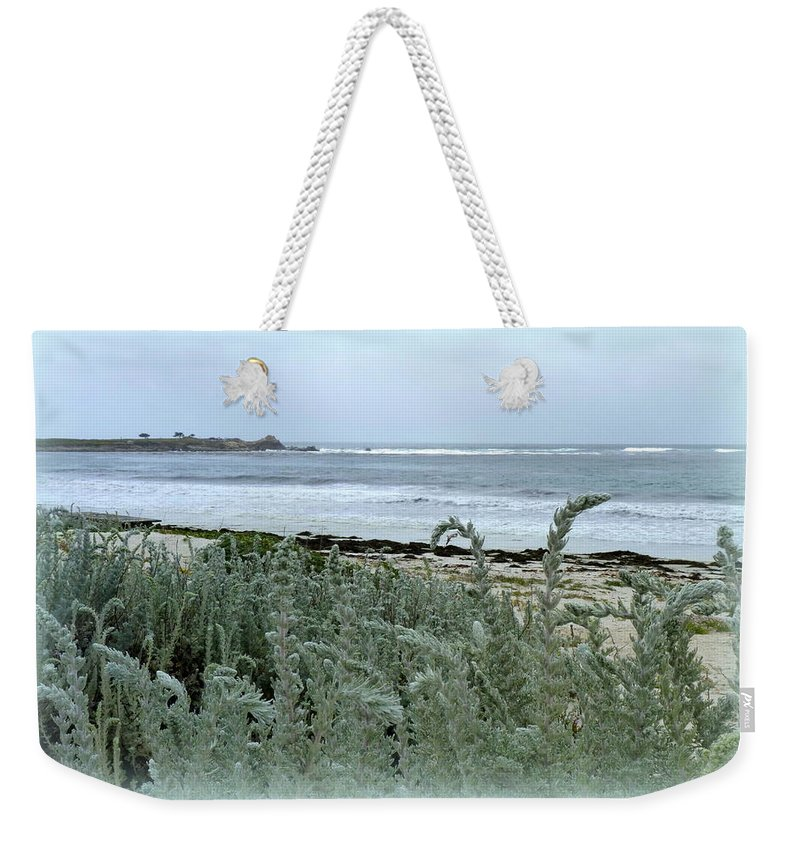 Beach Weekender Tote Bag featuring the photograph Celadon Seascape by Carla Parris