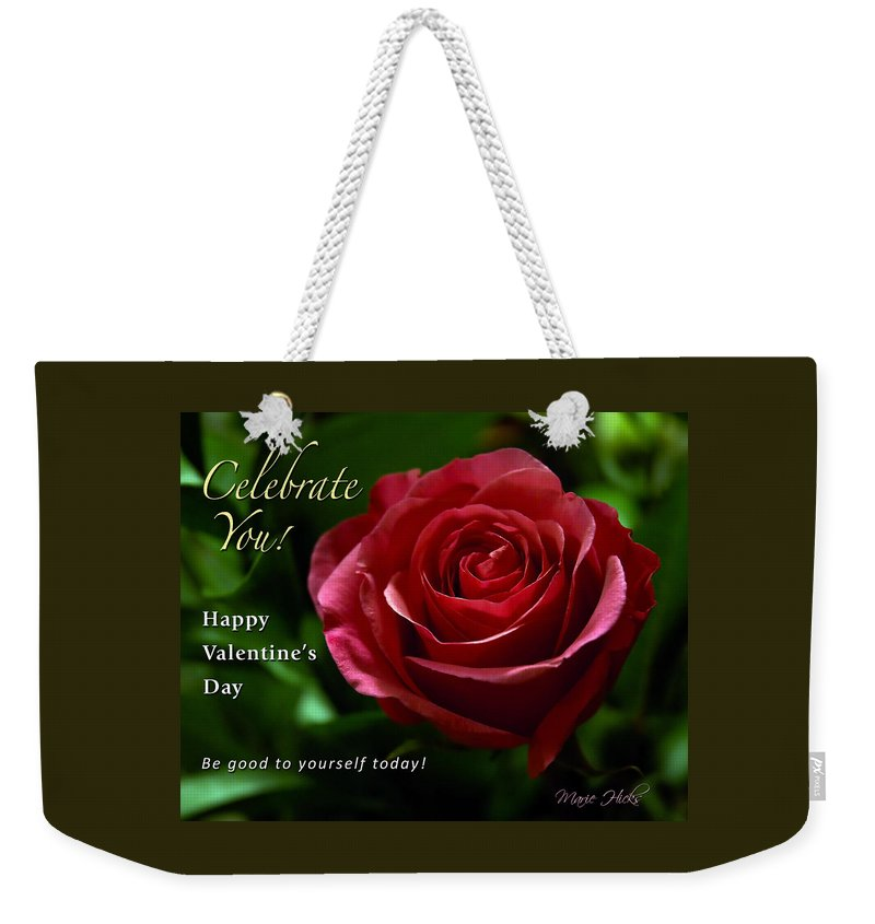 Red Weekender Tote Bag featuring the photograph Celebrate You by Marie Hicks