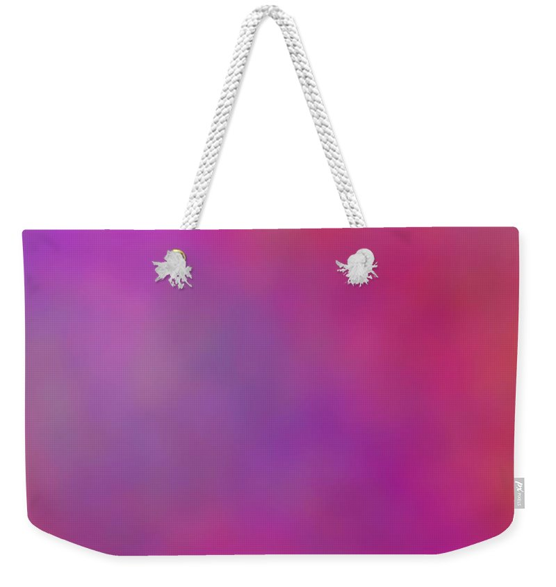 Pink And Purple Clouds Weekender Tote Bag featuring the digital art Celestial Magic by Christy Leigh