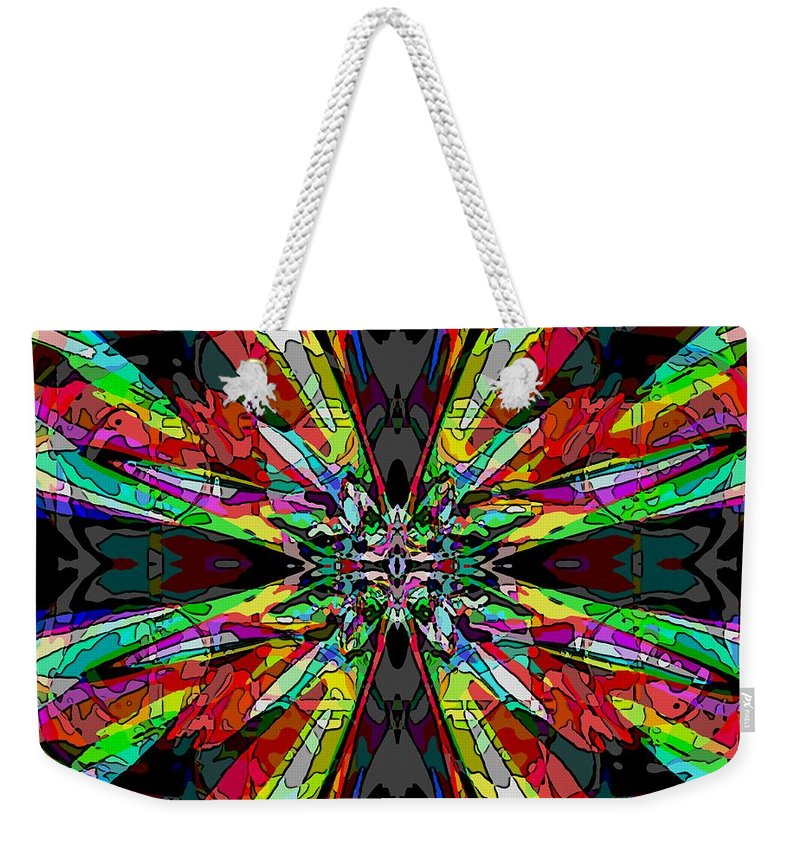 Abstract Weekender Tote Bag featuring the digital art Center Stage by Tim Allen