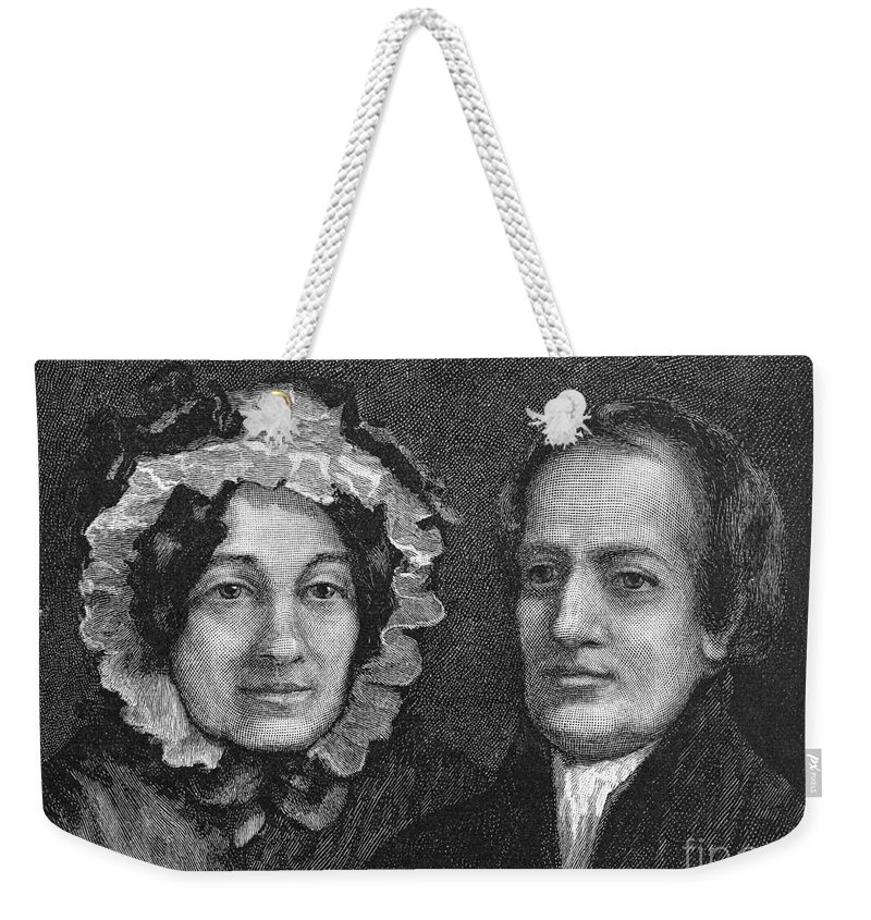 1834 Weekender Tote Bag featuring the photograph Charles Lamb (1775-1834) by Granger