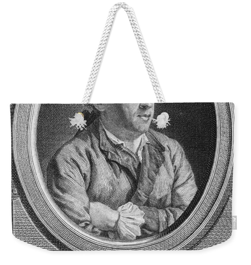 18th Century Weekender Tote Bag featuring the photograph Charles Simon Favart by Granger