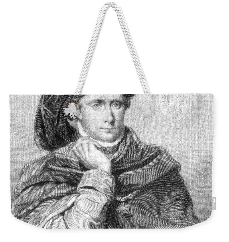15th Century Weekender Tote Bag featuring the photograph Charles Vi (1368-1422) by Granger