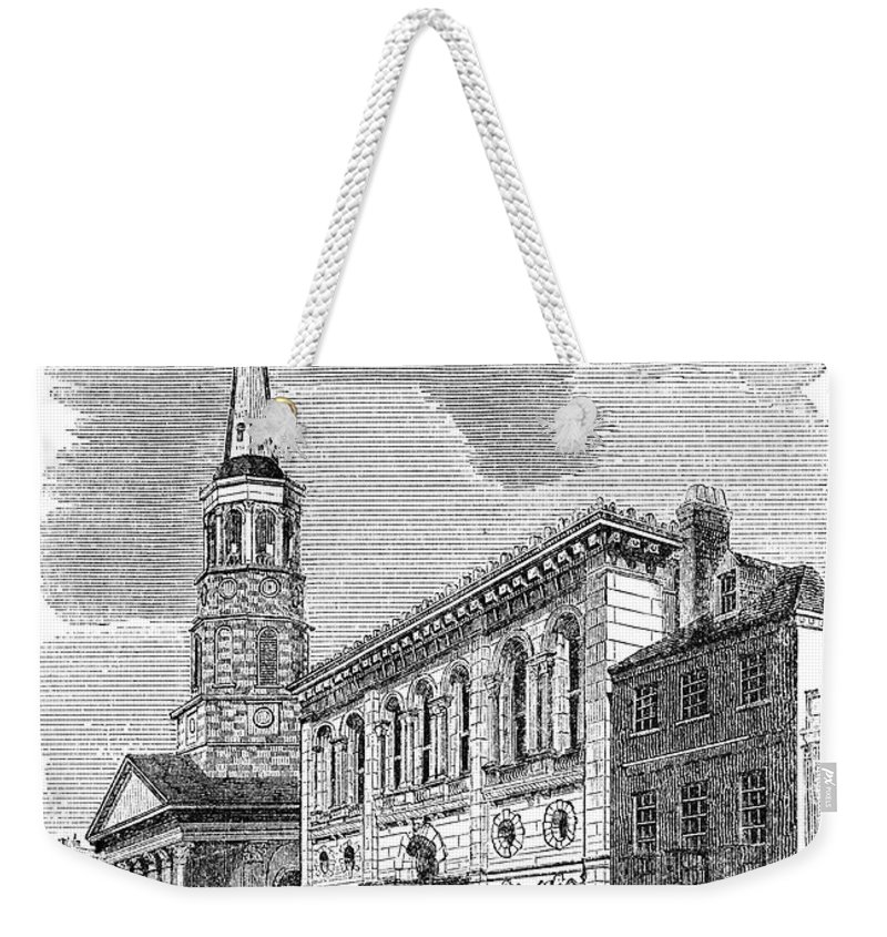 1857 Weekender Tote Bag featuring the photograph Charleston, 1857 by Granger