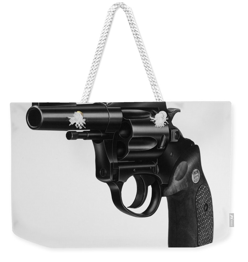 20th Century Weekender Tote Bag featuring the photograph Charter Arms Revolver by Granger