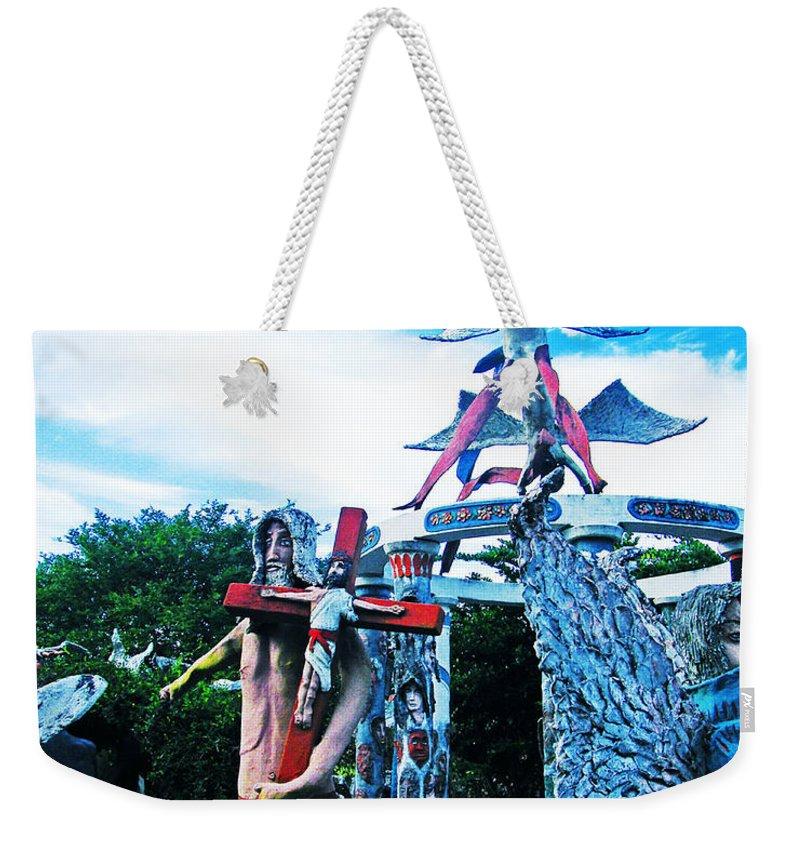 Sculpture Weekender Tote Bag featuring the photograph Chauvin La Sculpture Garden by Lizi Beard-Ward
