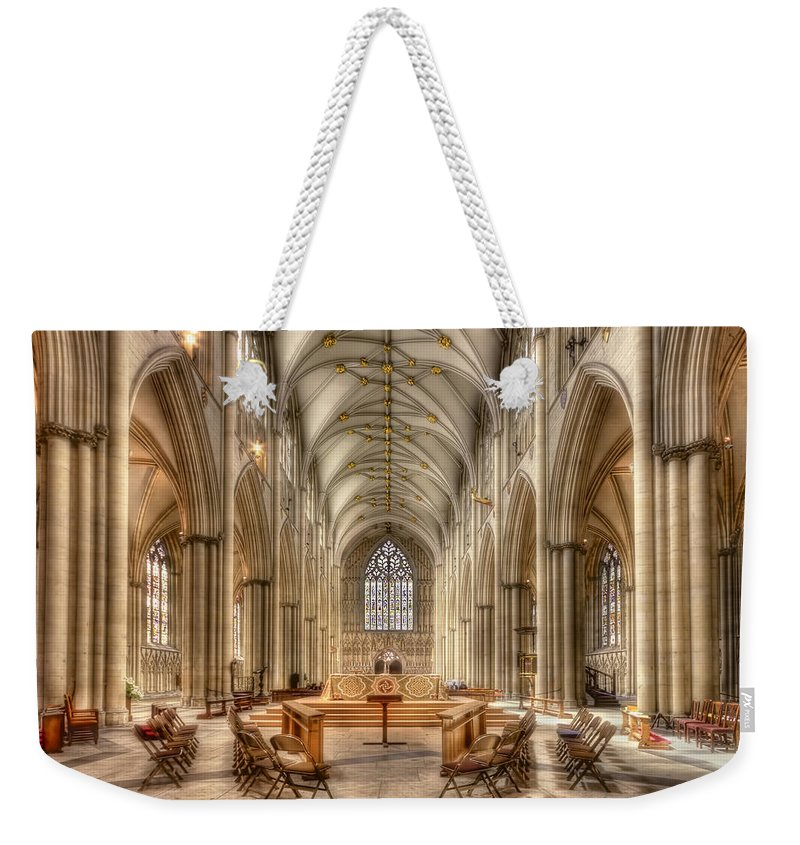 York Weekender Tote Bag featuring the photograph Cherish The Day by Evelina Kremsdorf