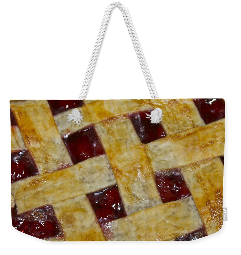 American Weekender Tote Bag featuring the photograph Cherry Pie 3782 by Michael Peychich